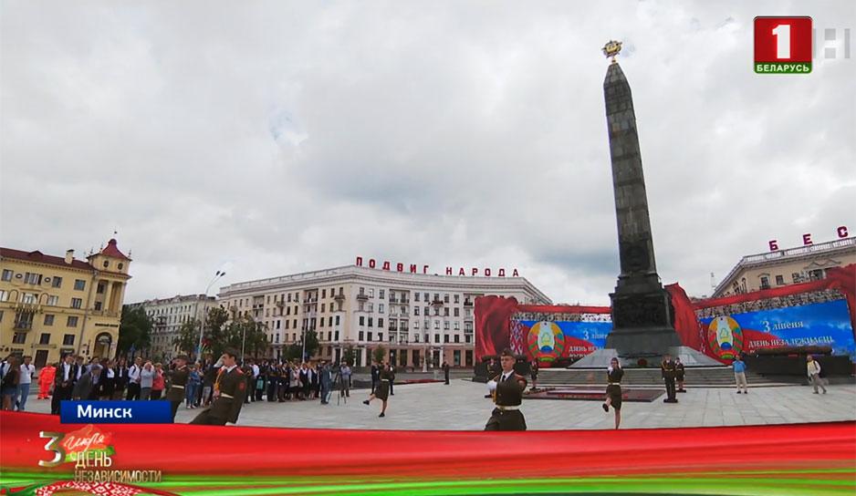 С цветами на площадь Победы пришли наши спортсмены