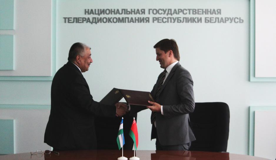 Memorandum signed between Belteleradiocompany and National Television and Radio Company of Uzbekistan