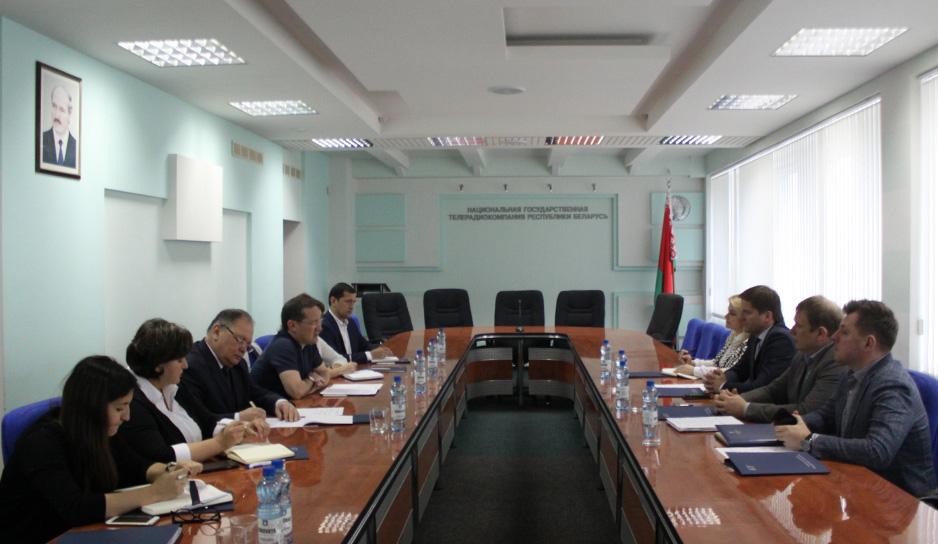 Белтелерадиокомпанию с рабочим визитом посетили коллеги из Узбекистана