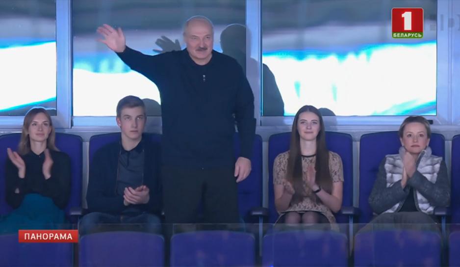 Глава государства увлеченно следил за матчем