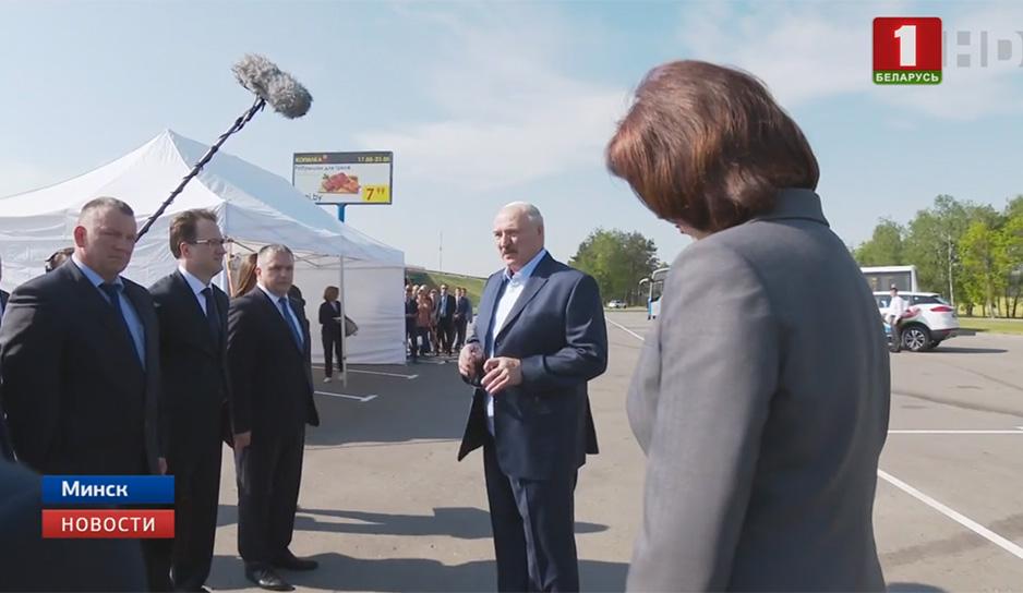 Президент Беларуси ознакомился с развитием территорий возле первой кольцевой автодороги