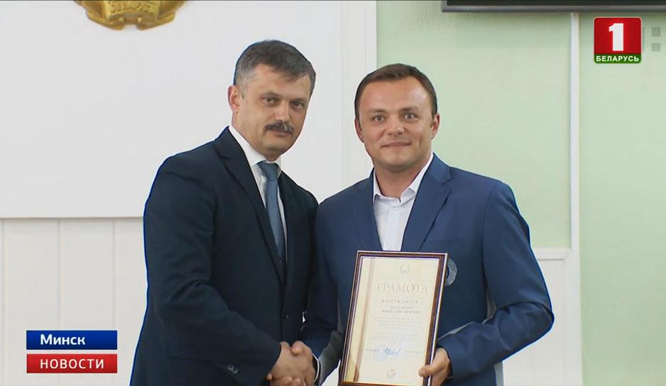 В Министерстве спорта и туризма сегодня чествовали призеров II Европейских игр.jpg
