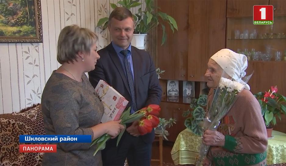 Поздравления с наступающим праздником - Днем Победы - принимала лично Мария Карманова