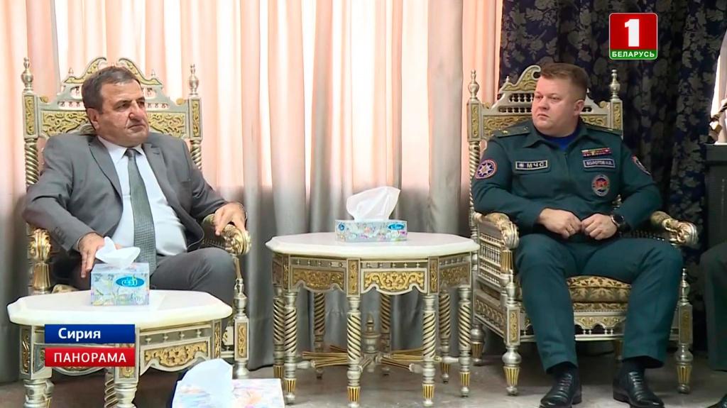 Беларусь оказывает гуманитарную помощь Сирии