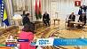 Александр Лукашенко встретился с лидерами Боснии и Герцеговины и Молдовы Аляксандр Лукашэнка сустрэўся з лідарамі Босніі і Герцагавіны і Малдовы Alexander Lukashenko meets with leaders of Bosnia and Herzegovina and Moldova