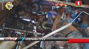 Гомельские правоохранители остановили грузовик, в котором перевозили лом черного металла