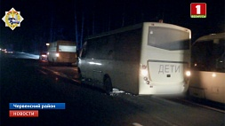 Автобус с детьми попал в аварию в Червенском районе из-за диких животных Аўтобус з дзецьмі трапіў у аварыю ў Чэрвеньскім раёне з-за дзікіх жывёл