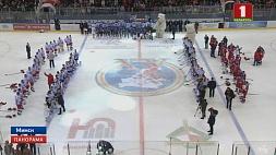 Финальная встреча Рождественского турнира по хоккею среди любителей на приз Президента. Как это было  Фінальная сустрэча Каляднага турніру па хакеі сярод аматараў на прыз Прэзідэнта. Як гэты было