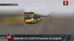 В Кобрине Porsche Cayenne врезался в автобус - водитель кроссовера погиб