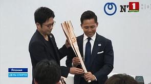 В Токио презентовали олимпийский факел У Токіа прэзентавалі алімпійски факел