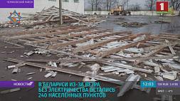 В Беларуси из-за ветра без электричества остались 240 населенных пунктов У Беларусі з-за ветру без электрычнасці засталіся 240 населеных пунктаў