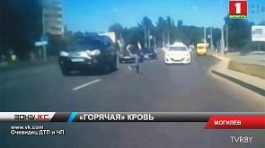 В Могилеве пьяна девушка бежала по дороге и угодила под колеса