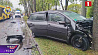 На улице Кедышко легковой автомобиль наехал на дерево и столкнулся с автобусом МАЗ
