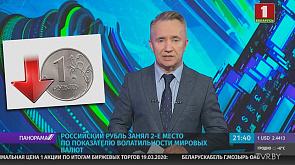 Российский рубль занял 2-е место по показателю волатильности мировых валют