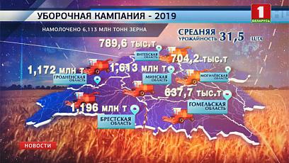 Брестская и Гродненская области завершают уборку зерновых
