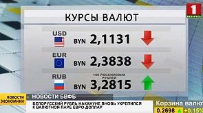 Белорусский рубль накануне вновь укрепился к валютной паре евро-доллар