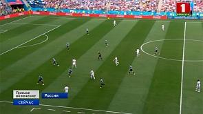 Уругвай и Франция. На чемпионате мира по футболу начинается первый матч четвертьфинала  Уругвай і Францыя. Пачынаецца першы матч  чвэрцьфіналу на чэмпіянаце свету па футболе