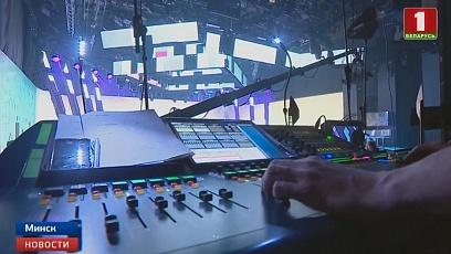 """Финалисты национального отбора на """"Евровидение"""" проверяют технические возможности сцены"""