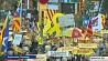 Каталонию  вновь охватили протесты Каталонію  зноў ахапілі пратэсты