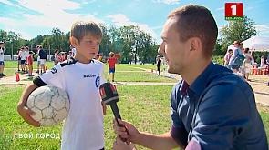 В столичном парке Победы появилась необычная зона для любителей футбола