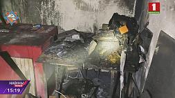 Пожар в школе № 215 Минска Гарэла маёмасць у падсобным памяшканні сталічнай школы