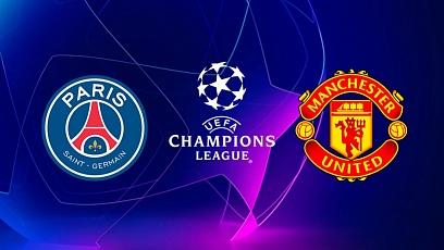 "Футбол. Лига чемпионов. 1/8 финала. ПСЖ - ""Манчестер Юнайтед"" 1:3"