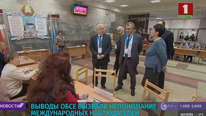 Выводы ОБСЕ вызвали непонимание международных наблюдателей