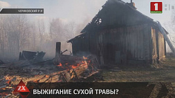 Сразу несколько строений пострадали во время пожара в Чериковском районе