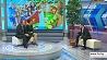 В студии первый секретарь Центрального комитета БРСМ Андрей Беляков У студыі першы сакратар Цэнтральнага камітэта БРСМ Андрэй Белякоў