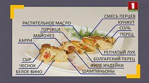 """Рулет из индейки с овощами и пирожное """"Муравейник"""""""