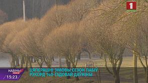 Климатическая зима в Беларуси так и не наступила Кліматычная зіма ў Беларусі так і не надышла
