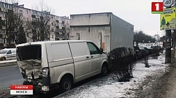 Неблагоприятные погодные условия стали причиной ДТП в Минске Неспрыяльныя ўмовы надвор'я сталі прычынай ДТЗ у Мінску