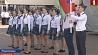 В Новополоцке прошел праздник строевой песни  У Наваполацку прайшло свята страявой песні