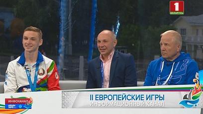 Гость выездной студии - обладатель золотой медали II Европейских игр боксер Дмитрий Асанов