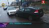 Легковой автомобиль и троллейбус столкнулись сегодня в Минске на улицы Кижеватова