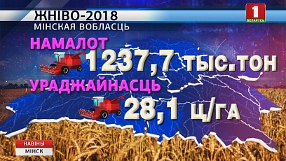 Свыше 90 % площадей убрано в Минской области