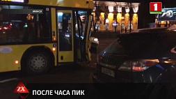 На проспекте Независимости рейсовый автобус врезался во внедорожник