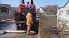 Вторые сутки сотрудники МЧС откачивают воду  в деревне Колядичи  Другія суткі супрацоўнікі МНС адпампоўваюць ваду  ў вёсцы Калядзічы