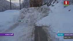 На Северо-западе Ирана продолжаются мощные снегопады