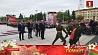 Церемония возложения венков к монументу Победы Цырымонія ўскладання вянкоў да манумента Перамогі