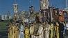 Пилигримы от храма святой Марии Магдалины с иконами и хоругвями прошли к Минскому замчищу Пілігрымы ад храма святой Марыі Магдаліны з абразамі і харугвамі прайшлі да Мінскага замчышча