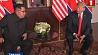 Дональд Трамп и Ким Чен Ын провели первые исторические переговоры в Сингапуре  Дональд Трамп і Кім Чэн Ын правялі першыя гістарычныя перамовы ў Сінгапуры