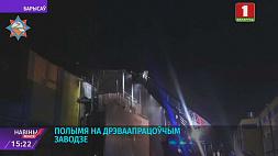 Пожар на деревообрабатывающем заводе в Борисове Пажар на дрэваапрацоўчым заводзе ў Барысаве