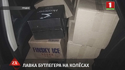 Почти 400 бутылок водки и 24 бутылки коньяка с акцизными марками России изъяли в Гродно