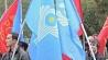 Флаг Союза Независимых Государств водружен на зданиях  Молдовы Флаг Саюза Незалежных Дзяржаў узняты на будынках Малдовы