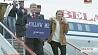 "Двухмиллионный пассажир ""Белавиа"" Двухмільённы пасажыр ""Белавія"" Belavia welcomes two-millionth passenger at Minsk National Airport"