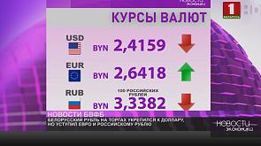 Белорусский рубль на торгах укрепился к доллару, но уступил евро и российскому рублю