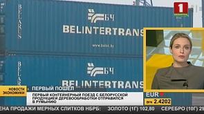 Первый контейнерный поезд с белорусской продукцией деревообработки отправился в Румынию