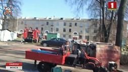 Спасатели предотвратили взрыв в одном из минских дворов Ратавальнікі прадухілілі выбух у адным з мінскіх двароў