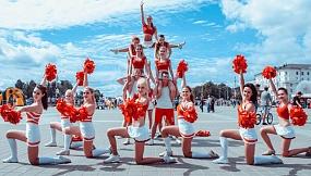 """Дарья Стрыгина: """"Команда по черлидингу """"DanStart"""" школы танца """"ЭпиCENTER"""". День Молодежи на Славянском базаре - усиленные тренировки, несколько часов дороги и фейерверк эмоций!"""""""